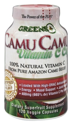DROPPED: Greens Plus - Camu Camu Vitamin C Caps - 120 Vegetarian Capsules
