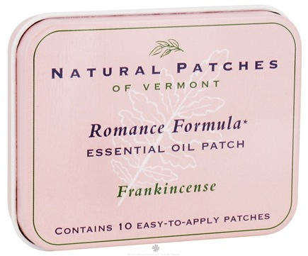 DROPPED: Natural Patches of Vermont - Romance Formula Essential Oil Body Patches Frankincense - 10 Patch(es)
