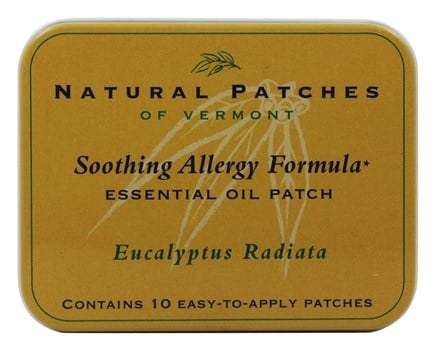 Natural Patches of Vermont - Soothing Allergy Formula Essential Oil Body Patches Eucalyptus Radiata - 10 Patch(es)