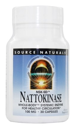 DROPPED: Source Naturals - Nattokinase 100 mg. - 30 Capsules