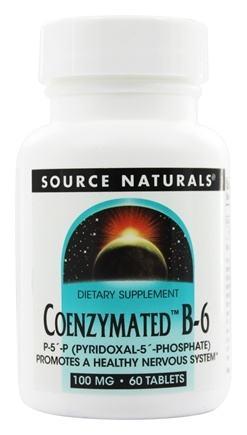 Source Naturals - Coenzymated B-6 100 mg. - 60 Tablets