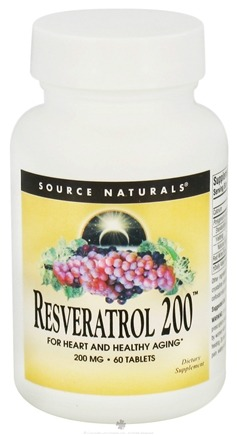 DROPPED: Source Naturals - Resveratrol 200 mg. - 60 Tablets CLEARANCE PRICED