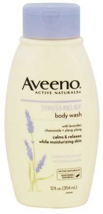 DROPPED: Aveeno - Active Naturals Body Wash Stress Relief Lavender, Chamomile + Ylang-Ylang - 12 oz. CLEARANCE PRICED