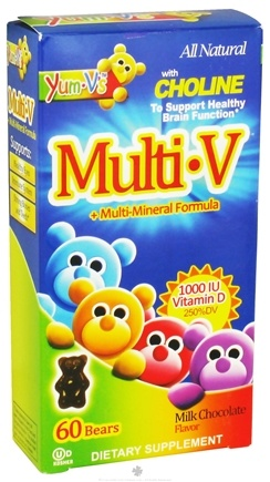 DROPPED: Yum-V's - Multi-V + Multi-Mineral Formula Milk Chocolate - 60 Bears - CLEARANCE PRICED