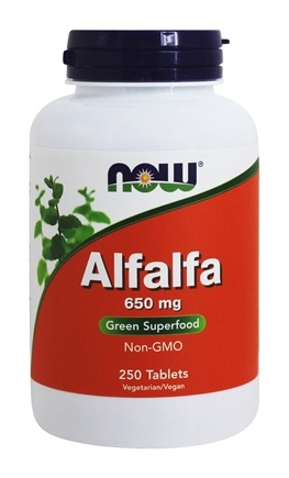 NOW Foods - Alfalfa Green Superfood 10 Grain 650 mg. - 250 Tablets