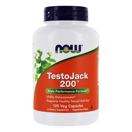 NOW Foods - TestoJack 200 with Tongkat Ali - 120 Vegetarian Capsules