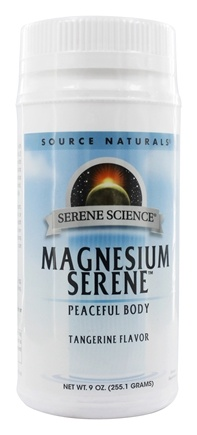 Source Naturals - Magnesium Serene Tangerine & Fruit Medley 800 mg. - 9 oz.