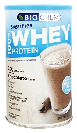 Biochem by Country Life - 100% Whey Protein Powder Sugar Free Chocolate - 12.5 oz.