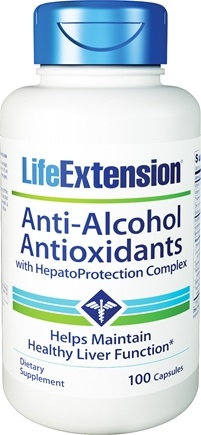 DROPPED: Life Extension - Anti-Alcohol Antioxidants - 100 Capsules