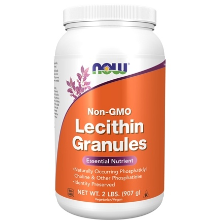 NOW Foods - Lecithin Granules Non-GMO - 2 lbs.