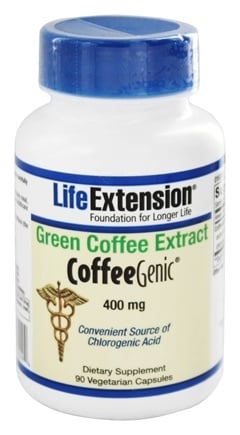 DROPPED: Life Extension - CoffeeGenic Green Coffee Extract 400 mg. - 90 Vegetarian Capsules
