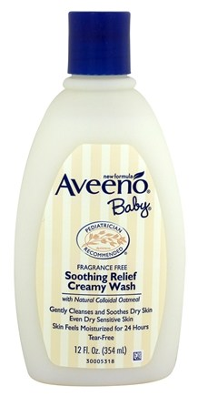 DROPPED: Aveeno - Baby Soothing Relief Creamy Wash Fragrance-Free - 12 oz.