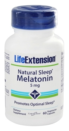 DROPPED: Life Extension - Natural Sleep Melatonin 5 mg. - 60 Vegetarian Capsules