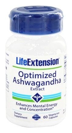 Life Extension - Optimized Ashwagandha Extract - Sensoril - 60 Vegetarian Capsules