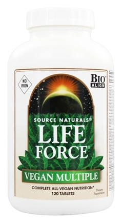 DROPPED: Source Naturals - Life Force Vegan Multiple No Iron - 120 Tablets