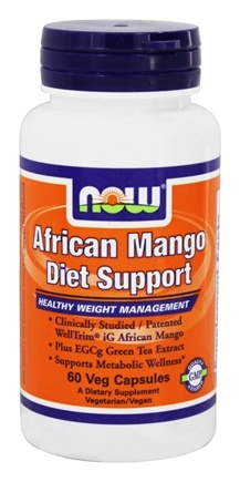 NOW Foods - African Mango Diet Support - 60 Vegetarian Capsules