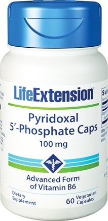DROPPED: Life Extension - Pyridoxal 5'-Phosphate Caps 100 mg. - 60 Vegetarian Capsules