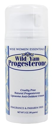 Wise Essentials - Wild Yam Progesterone Cream Fragrance Free - 3 oz.