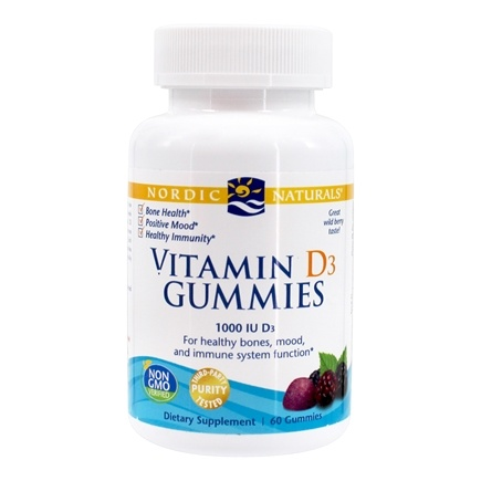 DROPPED: Nordic Naturals - Vitamin D3 Gummies Wild Berry 1000 IU - 60 Gummies