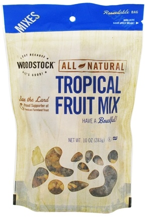 DROPPED: Woodstock Farms - All-Natural Tropical Fruit Mix - 10 oz.