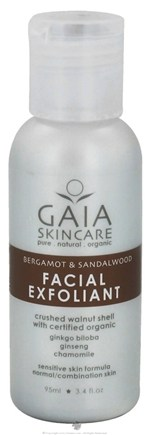 DROPPED: Gaia Skin Naturals - Gaia Skincare Facial Exfoliant Bergamot & Sandalwood - 3.4 oz. CLEARANCE PRICED
