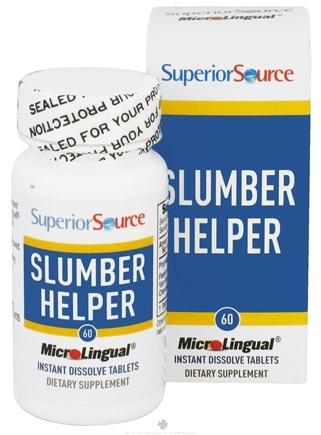 DROPPED: Superior Source - Slumber Helper Instant Dissolve - 60 Tablets CLEARANCE PRICED