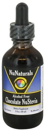 DROPPED: NuNaturals - Pure Liquid NuStevia Alcohol Free Chocolate - 2 oz. CLEARANCE PRICED