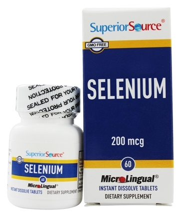 Superior Source - Selenium Instant Dissolve 200 mcg. - 60 Tablets