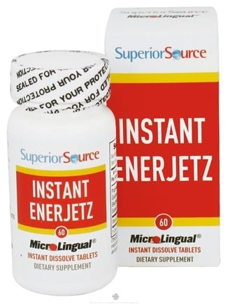 DROPPED: Superior Source - Instant Enerjetz Instant Dissolve - 60 Tablets CLEARANCE PRICED