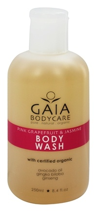 DROPPED: Gaia Skin Naturals - Gaia Bodycare Body Wash Pink Grapefruit & Jasmine - 8.4 oz. CLEARANCE PRICED