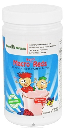 DROPPED: MacroLife Naturals - Macro Reds For Kids Berri - 3.3 oz. CLEARANCE PRICED