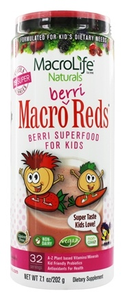 MacroLife Naturals - Macro Berri Reds Superfood for Kids - 7.1 oz.