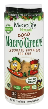 MacroLife Naturals - Macro Coco Greens Superfood for Kids - 7.1 oz.