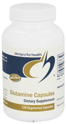 DROPPED: Designs For Health - Glutamine 850 mg. - 120 Vegetarian Capsules CLEARANCE PRICED