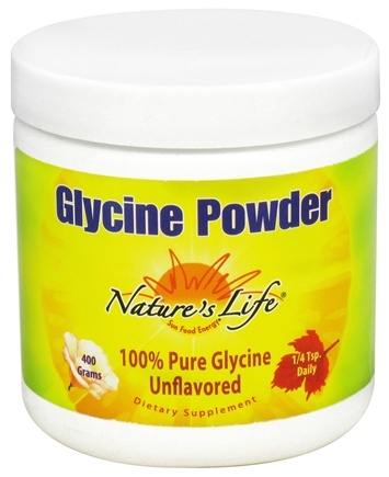 DROPPED: Nature's Life - Glycine Powder 1000 mg. - 14.1 oz. CLEARANCE PRICED