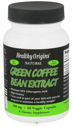 DROPPED: Healthy Origins - Natural Green Coffee Bean Extract 200 mg. - 60 Vegetarian Capsules CLEARANCE PRICED