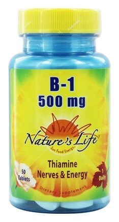Nature's Life - Vitamin B-1 500 mg. - 50 Tablets