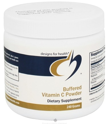 DROPPED: Designs For Health - Buffered Vitamin C Powder - 240 Grams CLEARANCE PRICED