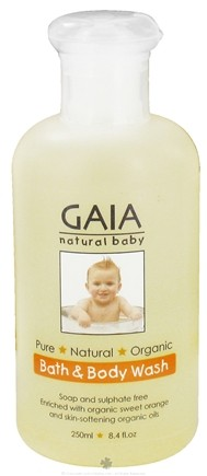 DROPPED: Gaia Skin Naturals - Gaia Natural Baby Bath & Body Wash - 8.4 oz. CLEARANCE PRICED