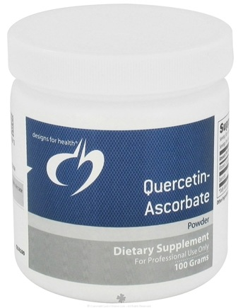 DROPPED: Designs For Health - Quercetin-Ascorbate Powder - 100 Grams CLEARANCE PRICED