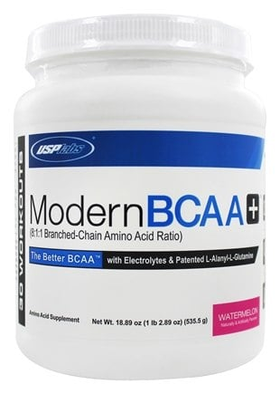 USP Labs - Modern BCAA+ Powder Ultra Micronized Amino Acid Supplement Watermelon - 18.89 oz.