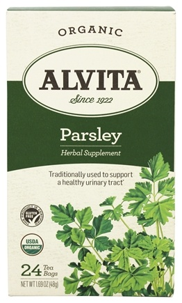 Alvita - Organic Parsley Tea Caffeine Free - 24 Tea Bags