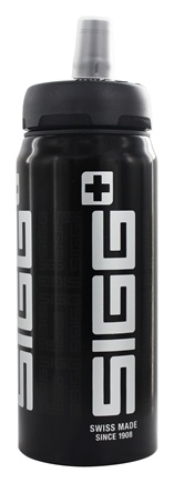 Sigg - Aluminum Water Bottle Active Top SIGGnificant Black - 0.6 Liter CLEARANCE PRICED