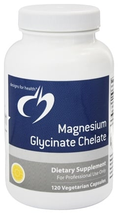DROPPED: Designs For Health - Magnesium Glycinate Chelate 300 mg. - 120 Vegetarian Capsules