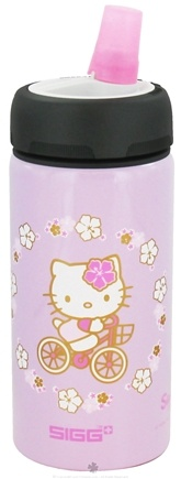 DROPPED: Sigg - Aluminum Water Bottle Active Top For Kids Hello Kitty Bike - 0.4 Liter CLEARANCE PRICED