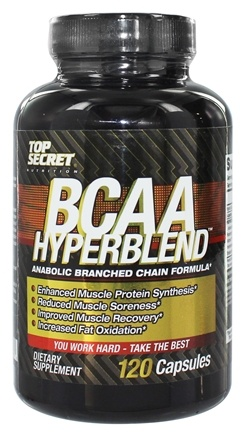 DROPPED: Top Secret Nutrition - BCAA Hyperblend Anabolic Branched Chain Formula - 120 Capsules CLEARANCE PRICED