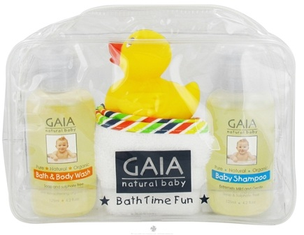 DROPPED: Gaia Skin Naturals - Gaia Natural Baby Bath Time Fun - CLEARANCE PRICED