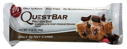 DROPPED: Quest Nutrition - Quest Bar Protein Bar Chocolate Chip Cookie Dough - 2.12 oz. Former Packaging