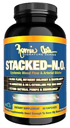 DROPPED: Ronnie Coleman Signature Series - Stacked-NO Systemic Blood Flow & Arterial Dilator - 90 Capsules CLEARANCE PRICED