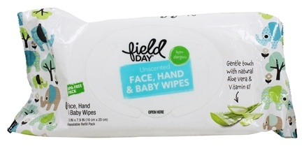 Field Day - Eco-Friendly Baby Wipes Resealable Refill Pack Unscented - 72 Wipe(s)